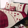 Dreams N Drapes Macy Red Quilt Set